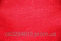 Мешковина льняная,декоративная,отрез ,цвет красный, 33*33 см