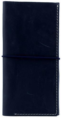 Дорожный стильный кожаный органайзер на резинке в стиле western Black Brier TK-1-97 темно-синий