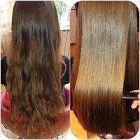 Кератиновое выпрямление и восстановление волос Эко составом