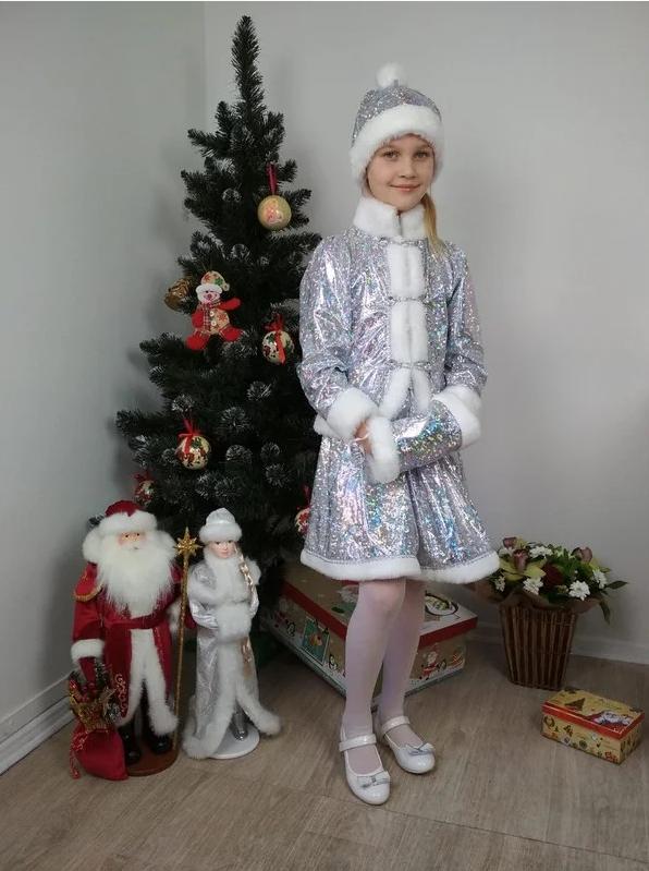 Карнавальный костюм Снегурочка хрустальная р 30-34, 36-40
