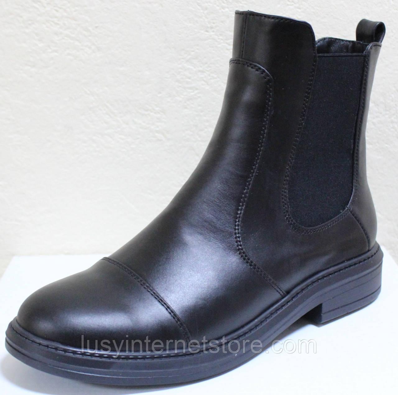 Ботинки женские демисезонные кожаные от производителя модель РИ113Ч