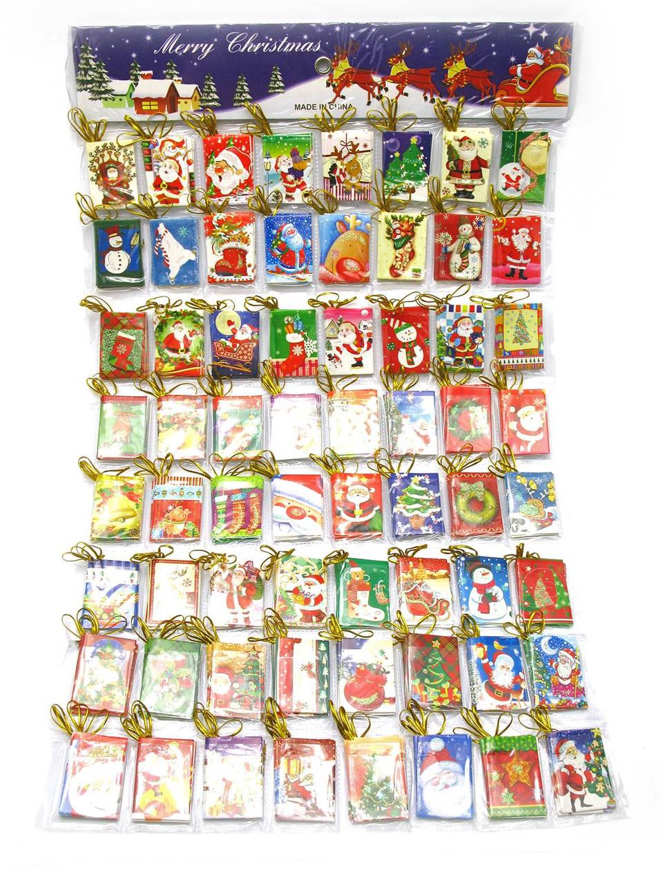 Открытки новогодние(3,5 * 5,5 см)(320 шт в наборе)