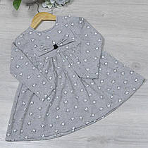 """Сукня трикотажне """"кішка"""" , розмір 3-8 років (5 од. уп. ), Сірий"""