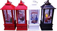 """Сувенир новогодний LZD-0110 """"Фонарь -Дед Мороз, Снеговик"""", светящийся 20х8см LED"""