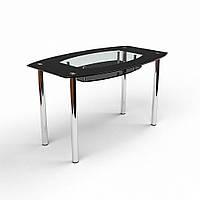 Стол обеденный из стекла модель Твист / Бочка
