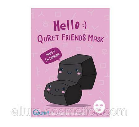 Тканевая маска для лица Quret Hello Friends Mask