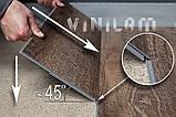 Винилвый ламінат Винилам механічний замок Дуб Темплін 3,7 мм 6543, фото 4
