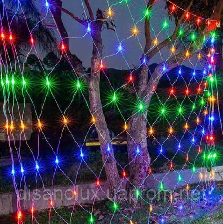 ГИРЛЯНДА Сітка 160 LED 2м*1,5м, мульті