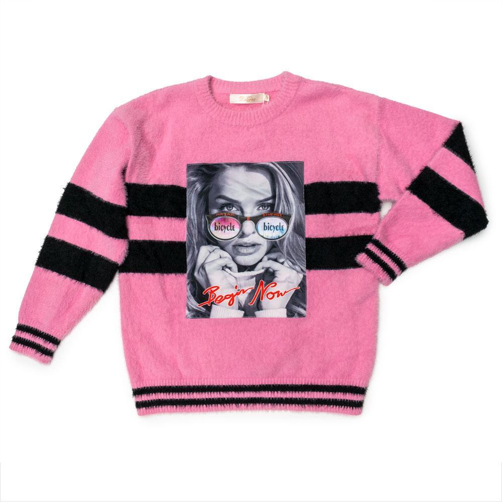 Свитер для девочек Deloras 134  розовый 981185