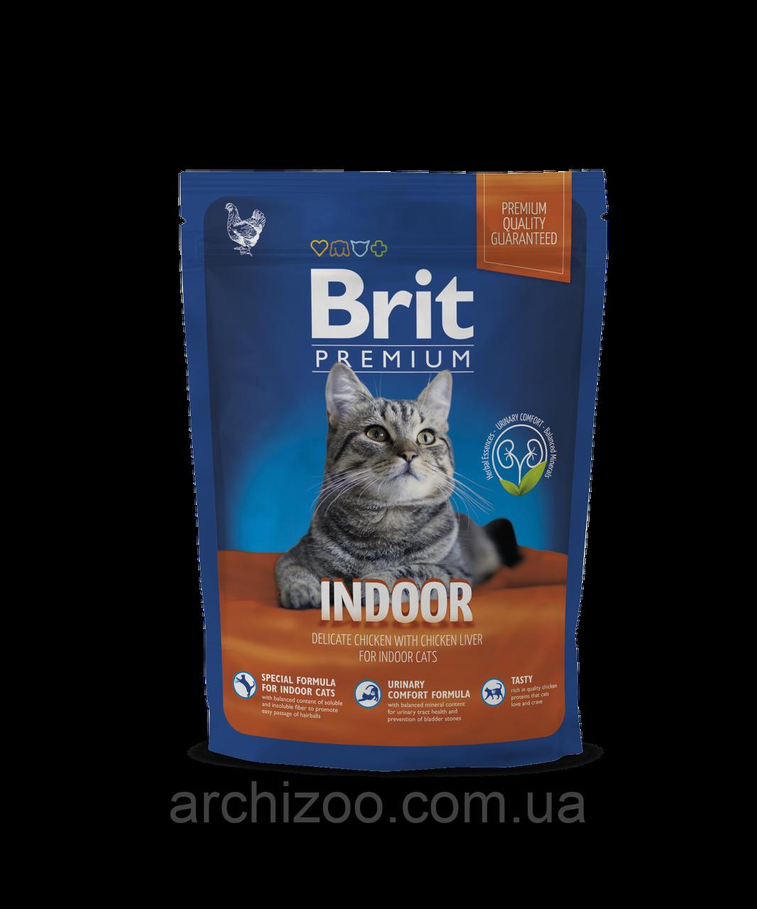 Brit Premium Cat Indoor корм для кішок, що живуть в приміщенні, 800 г