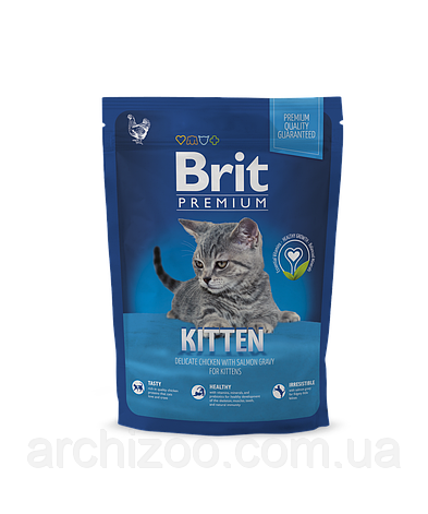 Brit Premium Cat Kitten корм для котят с курицей, 800 г, фото 2