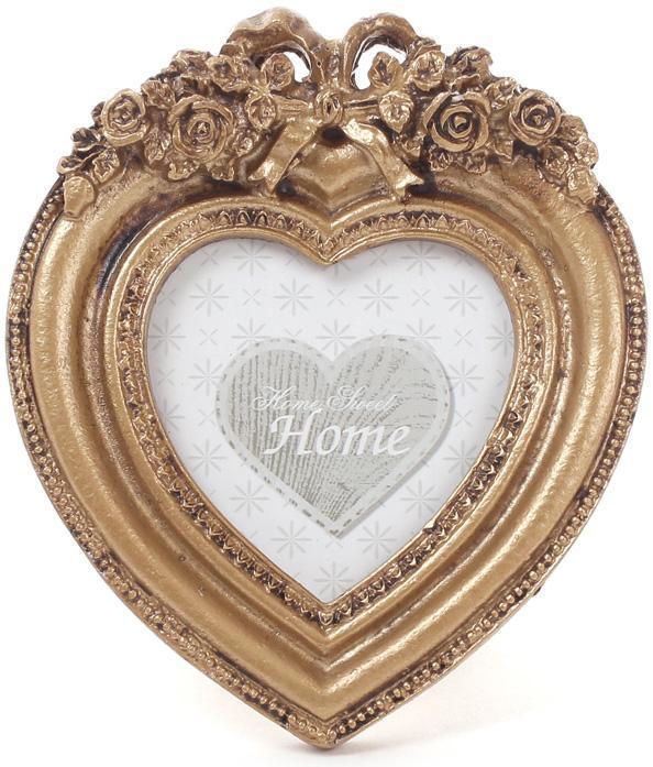 "Фоторамка настольная Tudor ""Барокко"" Сердце, для фото 7.5х7.5см"