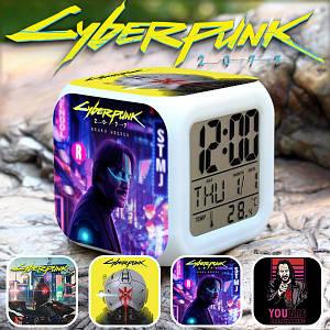 """Настольные часы Киберпанк 2077 """"Big City"""" / Cyberpunk 2077"""