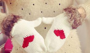 В'язані рукавички вязаные варежки