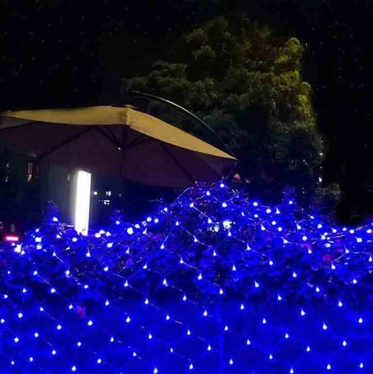 ГИРЛЯНДА Сітка 160 LED 2м*1,5м синій