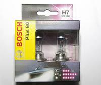 Лампочки автомобильные H7, комплект 2шт Bosch +90, 1 987 301 075