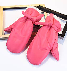 Яркие теплые варежки дутики рукавички