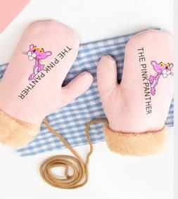 Оригинальные крутые варежки розовая пантера рукавички