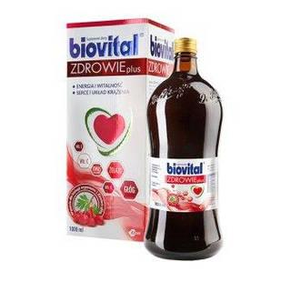 Egis Biovital Здоров'я Плюс мультивітамінний тонік з залізом і екстрактом глоду 1 літр