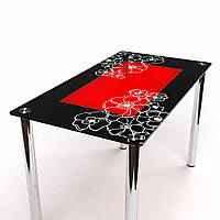 Стол обеденный из стекла модель Маки S-1
