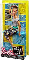 Кукла Барби Йога Двигайся как я Брюнетка Mattel Made to Move Barbie Doll, Brunette (FTG82), фото 5