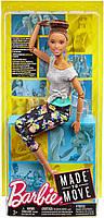 Кукла Барби Йога Двигайся как я Брюнетка Mattel Made to Move Barbie Doll, Brunette (FTG82), фото 6