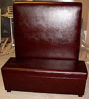 Мягкие диваны для кафе высокая спинка, фото 1