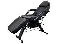 Кушетка косметологічна для салону краси мод 202 крісло кушетка для нарощування вій для депіляції Чорна