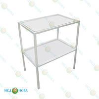 Инструментальный медицинский столик СТ-И-2М MEDNOVA, столик для медицинских приборов стационарный
