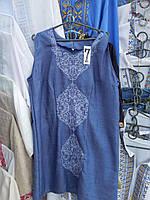 """Жіноче плаття """"Синій льон"""""""
