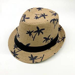 Стильная детская летняя шляпа панамка панама