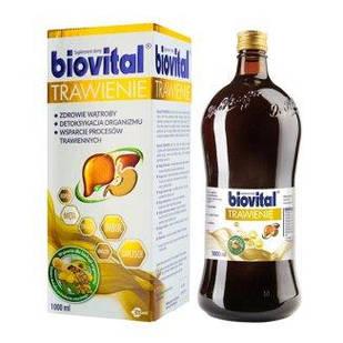 Egis Biovital Травлення з екстрактом артишоку, фенхелю, перцевої м'яти, імбиру, кульбаби, цикорію, вітаміни 1 літр