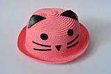 Красивая детская шляпа кошечка панама панамка, фото 2