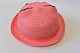 Красивая детская шляпа кошечка панама панамка, фото 4