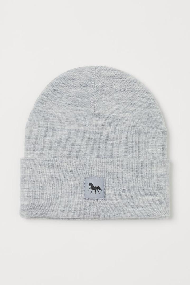 Демисезонная двухслойная шапочка с отворотом для девочки НM