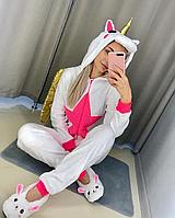 Детская пижама Кигуруми Единорог Белый с крыльями S (на рост 148-158см)