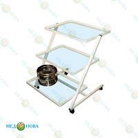 Столик медицинский манипуляционный (столик хирургический инструментальный передвижной столик-этажерка СП Завет