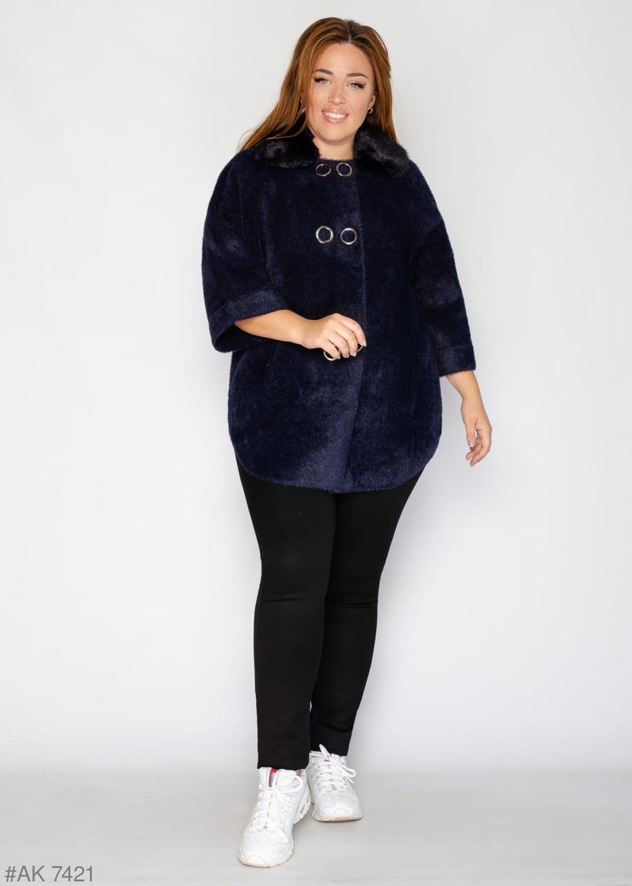 Элегантная женская куртка с альпаки 52-58 большемерит