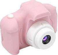 Дитячий цифровий фотоапарат рожевий, з іграми, фотоапарат для дітей, Pink, Full HD 1080P