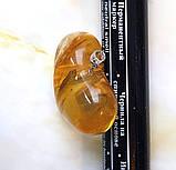 Кулон подвеска Сердце 100% натуральный Янтарь вес 10г, фото 3