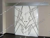 Стеклянные раздвижные двери с рисунком, фотопечатью, фото 1