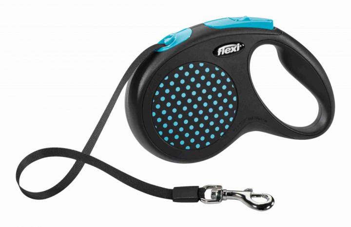 """Поводок-рулетка флексі """"Design"""" (5м, до 25кг) синій, Trixie TX-12272"""