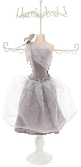 """Подставка для украшений """"Серое платье"""" 17.5х12.5х40.5см, подвеска"""