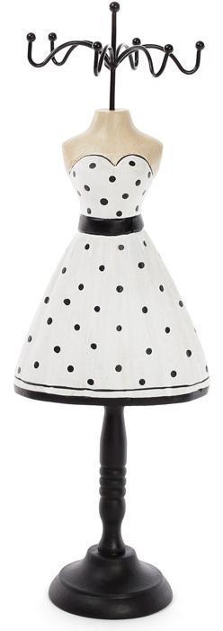 """Подставка для украшений """"Платье в горошек"""" 13х8х32.5см, подвеска"""
