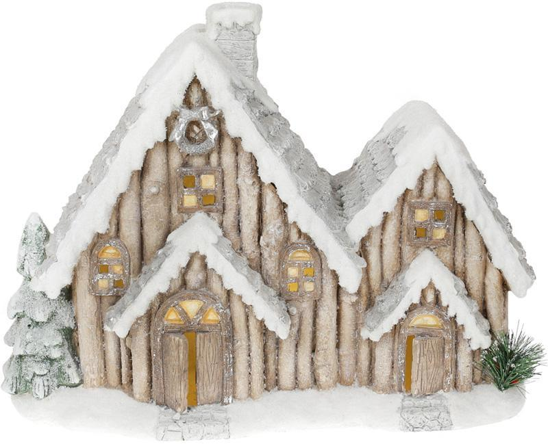 "Новогодний декор ""Домик в снегу"" 49см с LED-подсветкой"