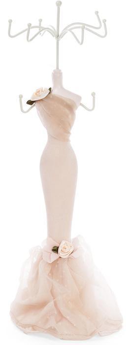 """Подставка для украшений """"Бежевое платье"""" 12х10х39.5см, подвеска"""
