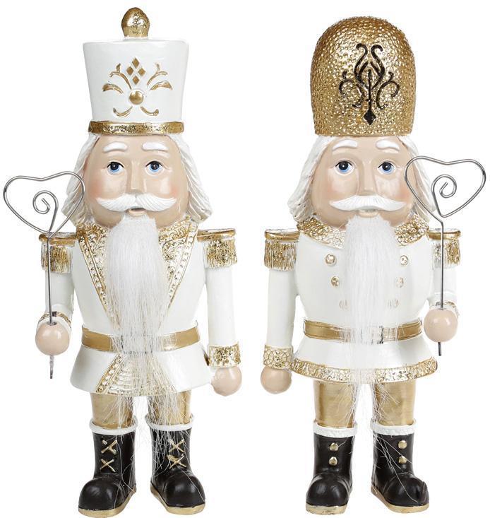 "Набор 2 статуэтки ""Щелкунчик"" Gold 9х6.5х22см"