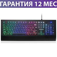 Игровая клавиатура с подсветкой Vinga KB658 USB черная, геймерская светящаяся клава с подсветкой клавиш