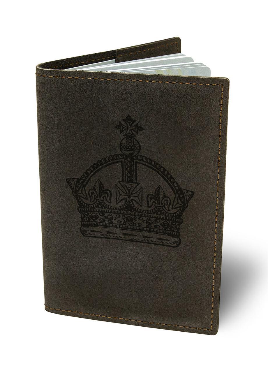 Обложка для паспорта Королева М01 коричневая SKL47-177346