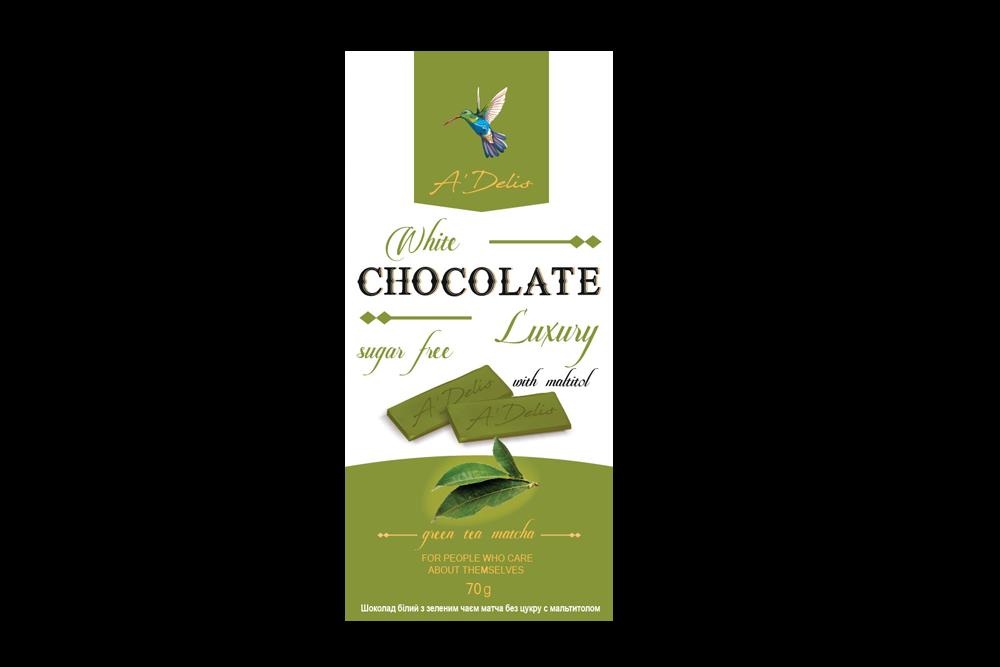 Белый шоколад с Матча без сахара